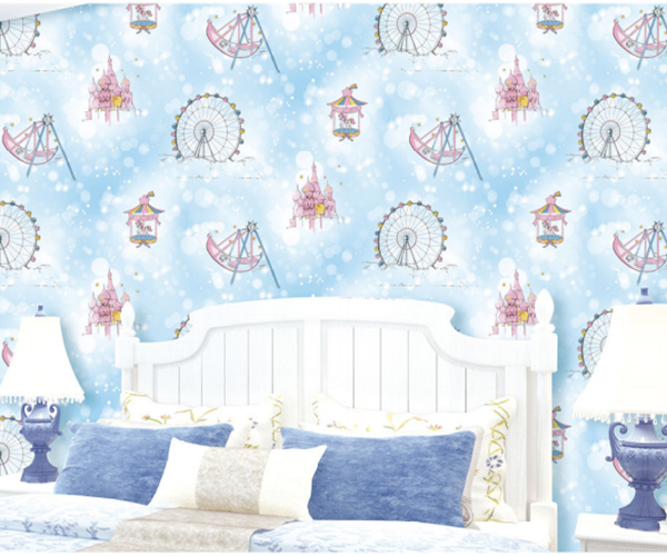Best price kids room pvc vinyl wallpapers for home room decoration
