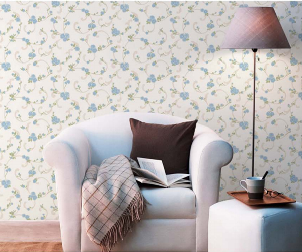 Beautiful flower waterproof pvc vinyl wallpaper for room decoration