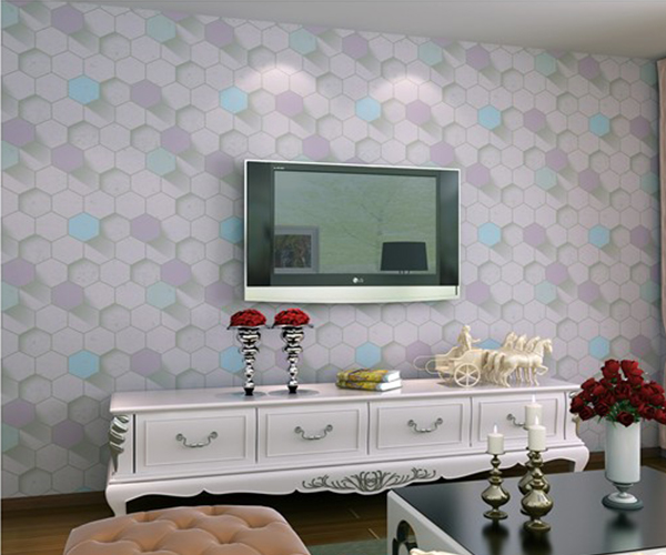 New 3D vinyl wallpaper wallcovering for living room 3d wall paper home wallpaper decoration